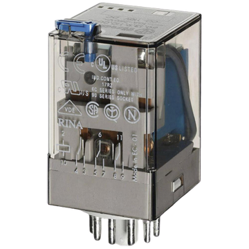 FINDER 60 Series 2Pole 8Pin 10Amp 24V DC Relay