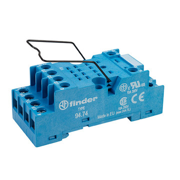 Finder 94 Series 4 Pole 8 Pin Relay Base