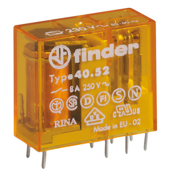 FINDER 40 Series 2Pole 8Pin 8Amp 24V AC Relay