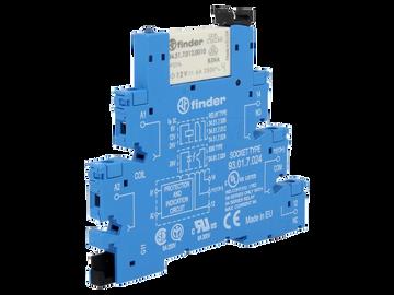 FINDER 38 Series 1 Pole Slimline 12V DC Relay & Base, 6A