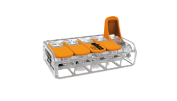 Wago 221-615 - Compact Connector with levers, 5 Conductor, Box qty 15