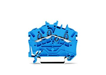 WAGO 3 conductor terminal, blue, 2.5mm