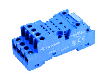 Finder 94 Series 2 Pole 8 Pin Relay Base