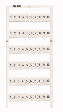 WAGO WMB marker card, 1-10 (x10)