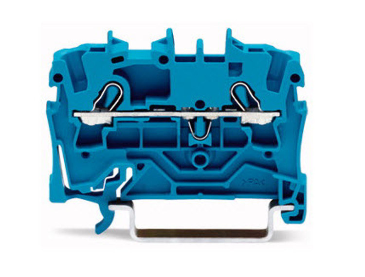 Wago TOPJOB®S Rail-mounted terminal Blue 0.75 to 4mm² ferruled cable; 1 to 6mm² Push-in Solid Conductor; Box Qty 100