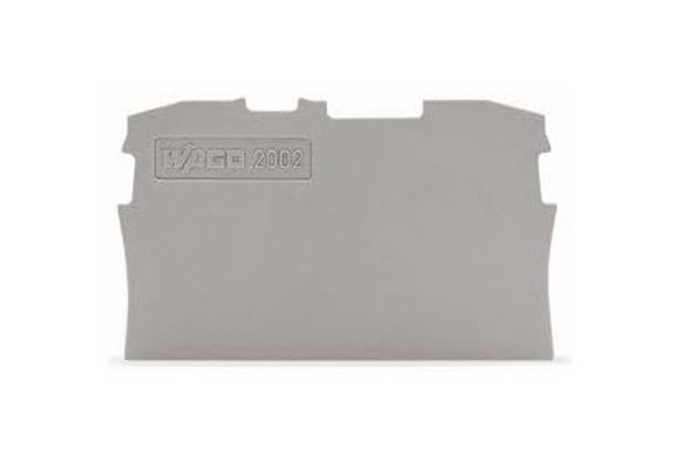Wago TOPJOB®S Grey End and Intermediate plate for 2004 Series terminals 0.8mm wide; Bag Qty 25