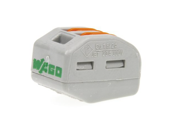 Wago 222-412 - Connector with levers, 2 Conductor, Box qty 50