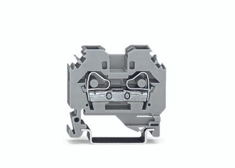 WAGO 2 conductor terminal, grey 6mm