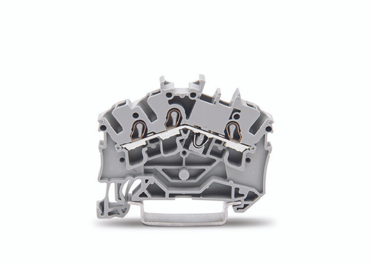 WAGO 3 conductor terminal, grey, 2.5mm