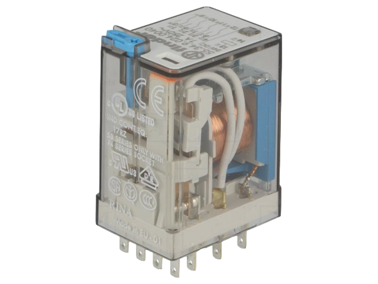 FINDER 55 Series 4 Pole 14 Pin 7Amp 24V DC Relay