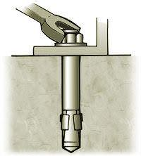 Tighten nut turning approximately three or four full turns.