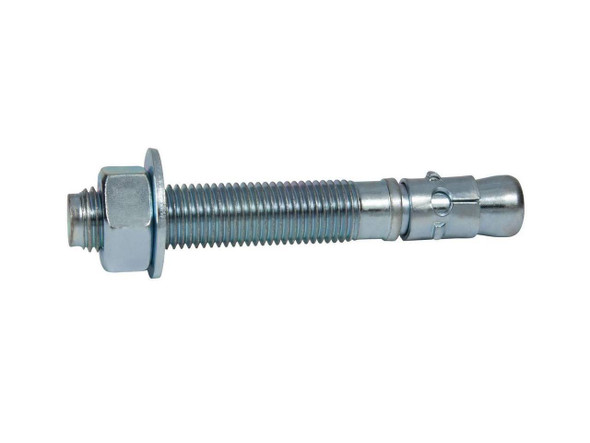 Box of 10 MKT Zinc Plated Taper Bolt Anchor with Expansion Nut 1 Diameter x 5-5//8 Length 1 Hole Diameter