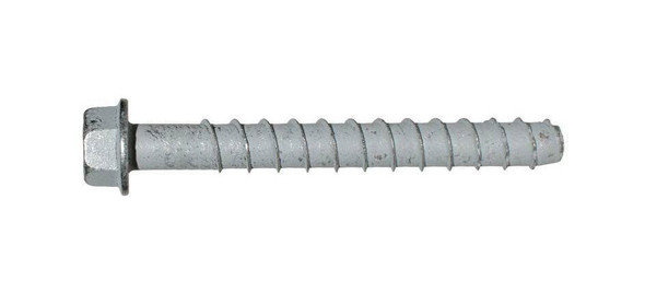 """Picture of 3/8"""" x 6"""" Simpson Strong-Tie Titen HD Screw Anchor Mechanically Galvanized, 50/Box"""