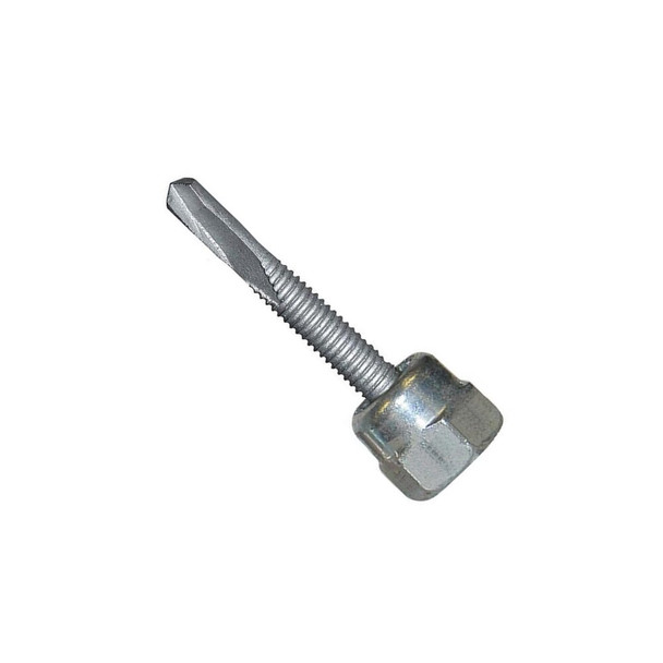 "Picture of Sammys® 3/8"" Vertical Threaded Rod Anchor for Steel, 3/8""-16 Rod Size, 1/4""-14 x 3"" Screw Size - DST 30 - 8044957, 25/Box"