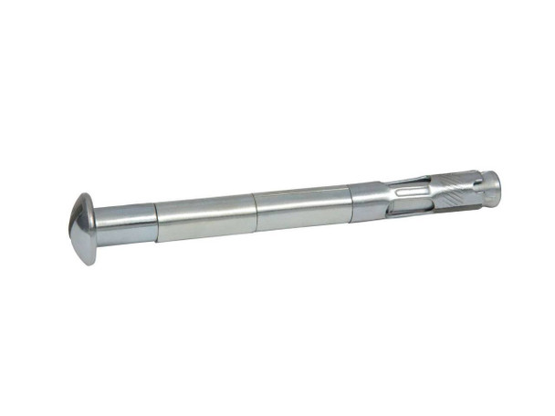 """Picture of 1/4"""" x 2"""" Round Slotted Sleeve Anchor Zinc Plated, 100/Box"""