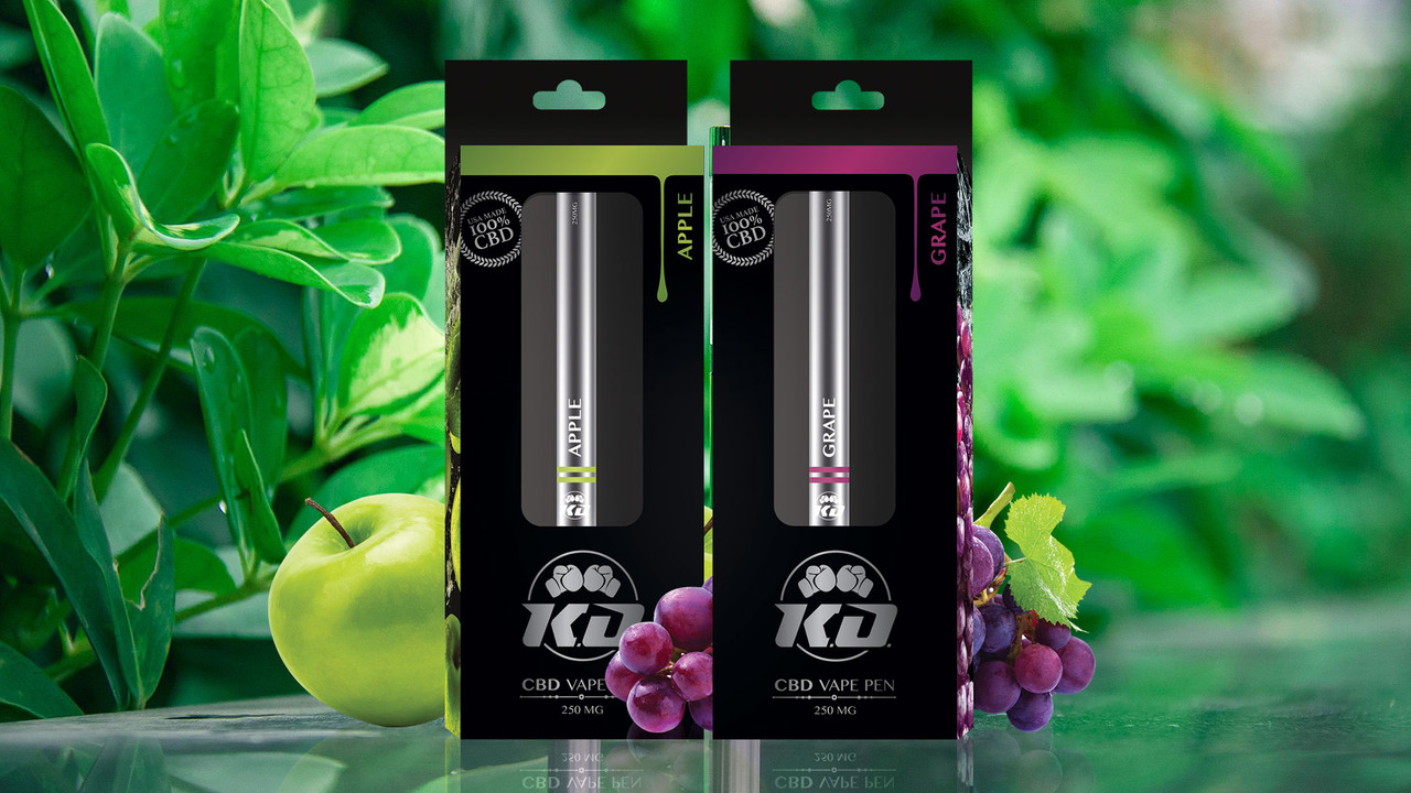 CBD Disposable Vape Pens By Knockout CBD 250MG