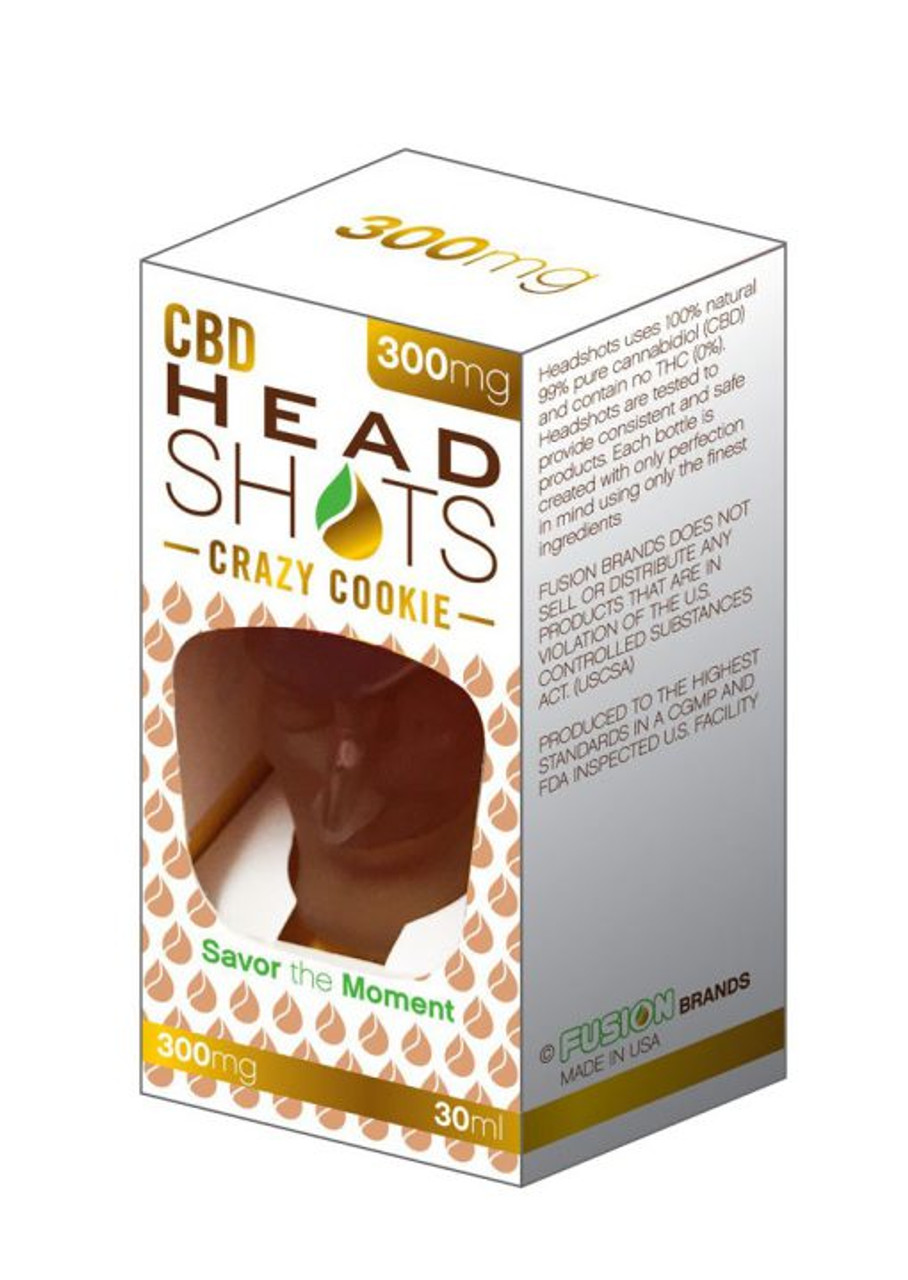 """CBD Headshots uses 100% natural 99% pure cannabidiol (CBD) and contain no THC (0%). Headshots are tested to provide consistent and safe products, CBD Fusion Crazy Cookie Headshots 300mg - CBD Fusion Brands, Crazy Cookie 300mg CBD Oil by CBD Head Shots is a flavorful rendition of a butter pecan cookie infused with toffee vanilla cream and caramel drizzle, CBD Fusion Headshots uses 100% natural 99% pure cannabidiol (CBD) and contain no THC (0%). Headshots are tested to provide consistent and safe products.""""/> <meta property=""""og:url"""" content=""""https://cbdfusionbrands.com/product/300mg-cbd-crazy-cookie-headshots-12-pack, CBD Fusion Crazy Cookie Headshots 300mg (12 Pack) - CBD Fusion Brands"""