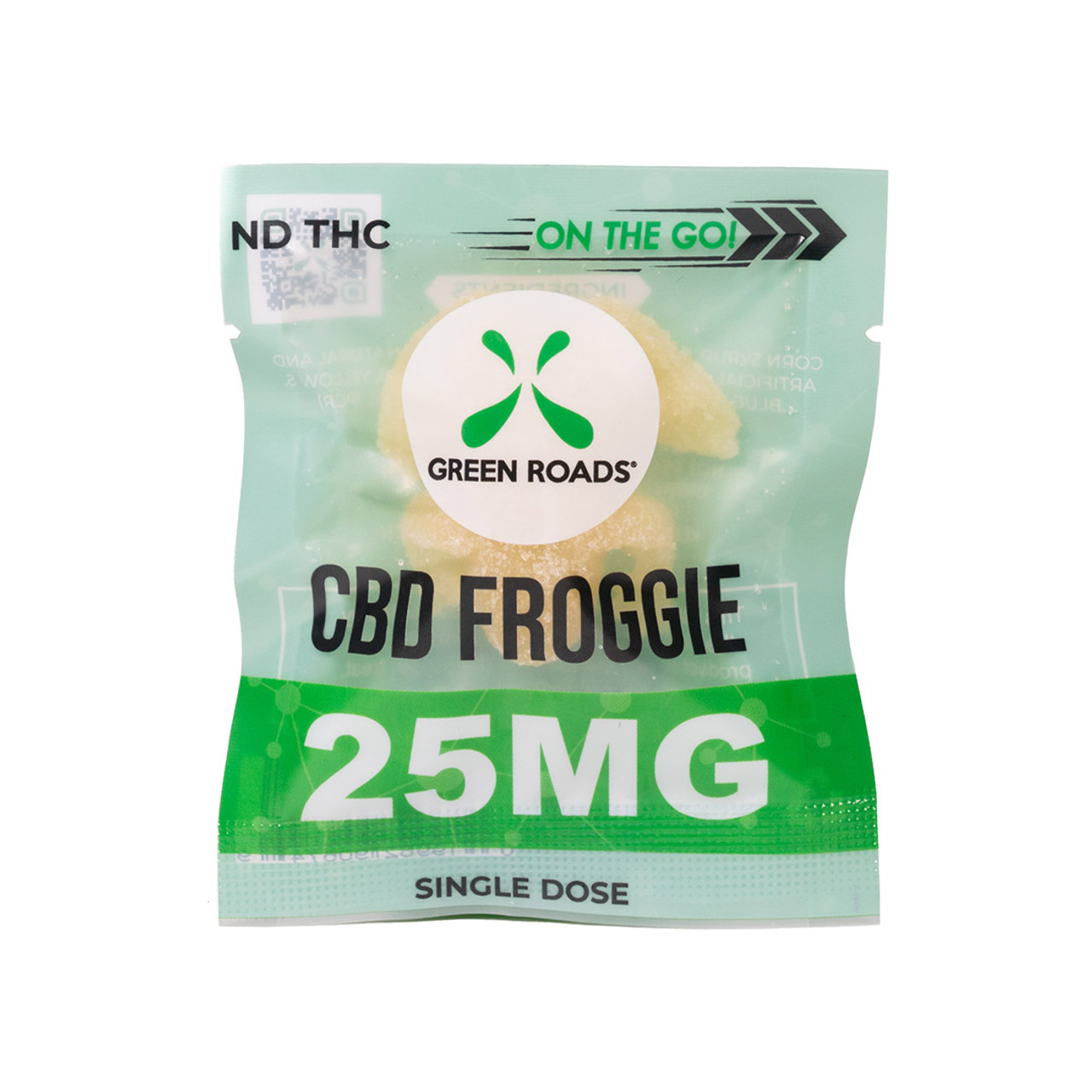 The CBD Froggies, Green Roads' flagship edible product, are an industry classic. Lucky for everyone, pharmacist-formulated 25 mg CBD Froggies are now available in a single dose, ideal for college students, soccer moms, and everyone in between.