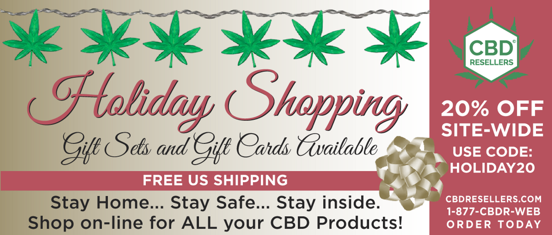 happy holidays | CBDresellers 20% off site-wide |  All CBD products