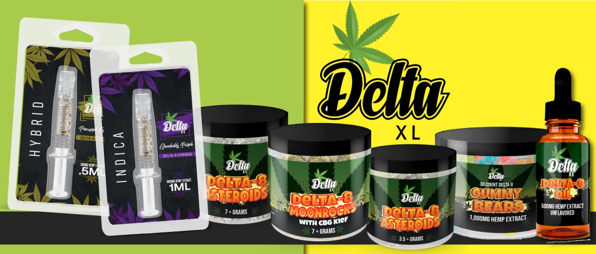 Delta XL Pure D8 Products are Crafted with passion, knowledge, and years of expertise. Formulated with 99.9% premium Delta 8 THC distillate providing an uplifting yet relaxing effect. Carefully manufactured in our state approved facility. CBDResellers.com