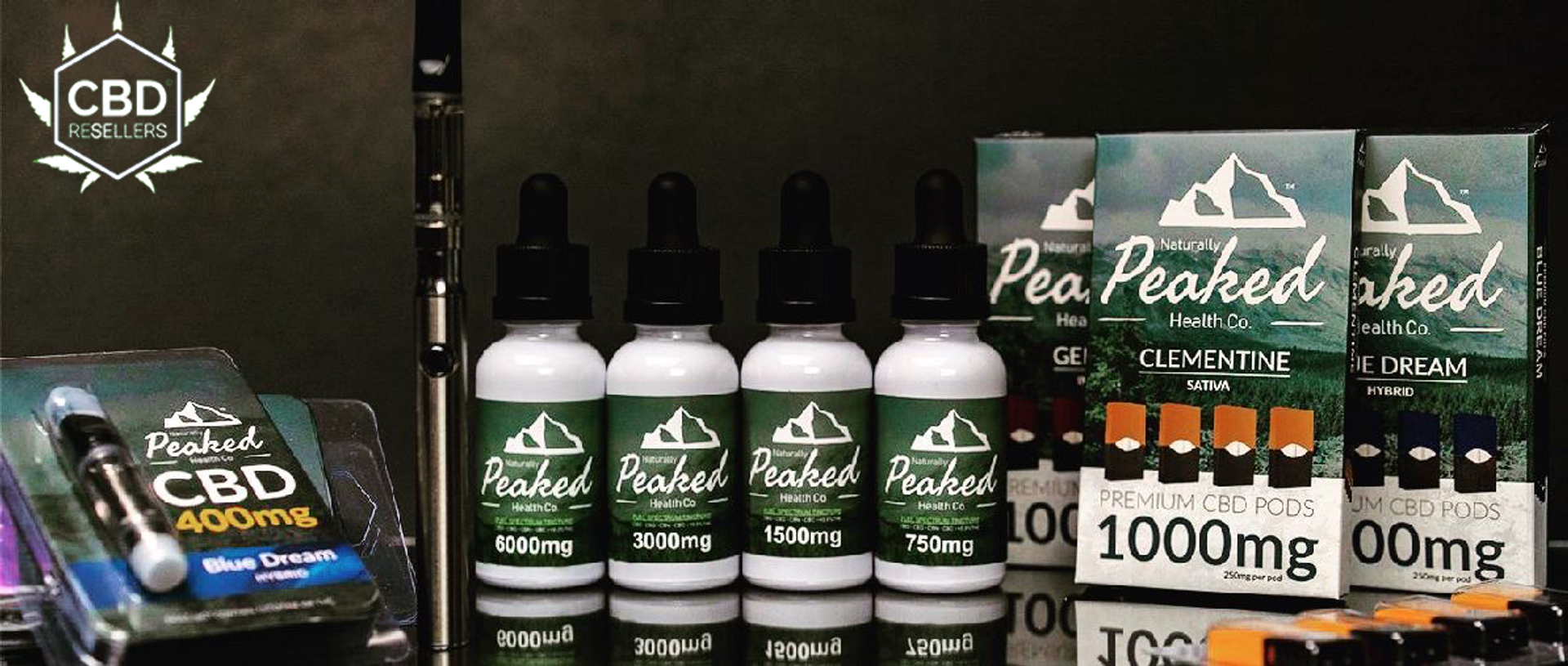 Naturally Peaked All Organic CBD; Live Life on your terms; Get Peaked