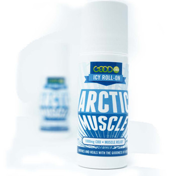 GOOD – Arctic muscle roll-on helps with muscle pain relief. Each bottle contains CBD hemp extract with natural menthol. 1000 mg CBD IN A 3 Ounce Bottle. Easy roll-on applicator.