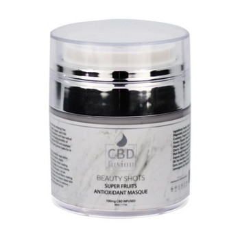 A super hit of antioxidants to reverse the oxidizing free radical process for smoother, younger, happier and truly vibrant skin, you can found in CBD Fusion Super Fruits Mask. Loaded with potent antioxidants and free radical fighters of Blueberry, Cranberry, Oregon Grape, Bayberry, Cayenne and Seabuckthorn. This masque combines this with the anti-aging benefits of Glycolic Acid, Hyaluronic Acid, Coenzyme Q10 and peptides to gives the boost, lift and shine that every person with skin looks for in skin care.