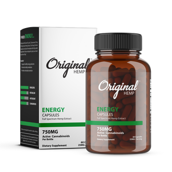 Infused with Green Tea Leaf, L-Tyrosine and 25mg Full Spectrum Hemp Extract. Our Energy Formula Capsules are doctor formulated with high-quality ingredients that are designed to give you a boost any time of day.