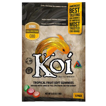 Koi CBD gummies are crafted with both taste and efficacy in mind, these delicious snacks provide a punch of tropical fruit flavor with the restorative affects you expect from any other CBD product. Bursting with the flavors of lime, tangerine, and acai pomegranate, these delectable snacks provide plenty of flavor while restoring balance, naturally.