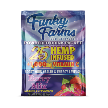 This CBD-infused, powdered drink mix is perfect for those who need access to a delicious and nutritious beverage on the go. With 25 mg of CBD per packet, you can enjoy a refreshing burst of strawberry, blueberry, raspberry and blackberry flavors infused with high quality CBD Hemp. Plus, with ingredients like B vitamins, Echinacea, zinc, and vitamin C, your immune system will thank you for all the support. This is one mid-day pick-me-up that you can feel good about indulging in.
