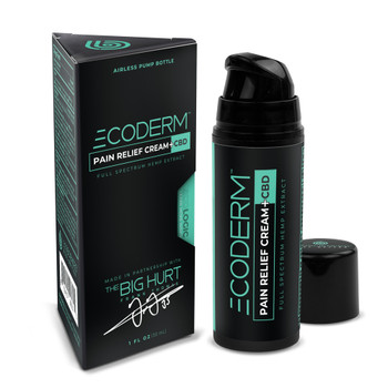 ECODERM™, a unique new pain cream that contains CBD-rich, premium quality full spectrum hemp extract