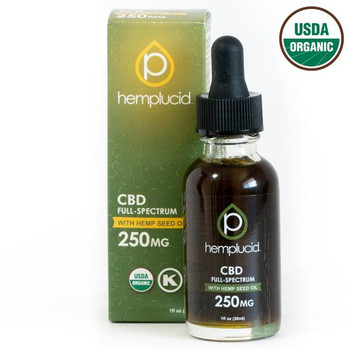 USDA Organic Hemplucid  Full-Spectrum CBD in Hemp Seed Oil 250mg - 2,000mg. Full-spectrum CBD in organic cold-pressed hemp seed oil. This all-natural tincture combines the beneficial properties of every part of the hemp plant.