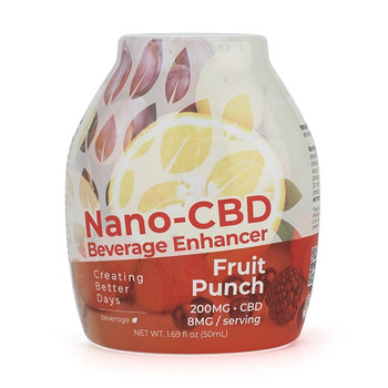 Transform your beverage into a relaxing tropical paradise with every squeeze from Creating Better Days Beverage Enhancers. Relax with Nano-CBD and experience delicious fruit punch flavors with every sip.