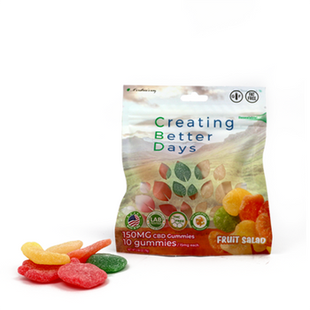 CBD Fruit Salad with fast-acting benefits of nano-amplified CBD. Safe, gentle, and effective, this formulation provides naturally occurring antioxidants to support a healthy endocannabinoid system. This formula and all Creating Better Days formulas are 100% THC-free and non-psychoactive.