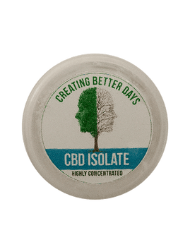 CBD Isolate offers 994mg of CBD per 1 gram. Served in a 6 mL glass container that allows for easy, on-the-go use. Safe, gentle, and effective, this formulation provides naturally occurring antioxidants to support a healthy endocannabinoid system. This formula and all Creating Better Days formulas are 100% THC-free and non-psychoactive.