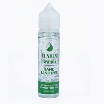 Hand Sanitizer (62% Alcohol) with Aloe Vera and Vitamin E, available in a 2oz size. It contains 62% Alcohol as an antibacterial agent combined with Aloe Vera and Vitamin E. There is no CBD in this product.