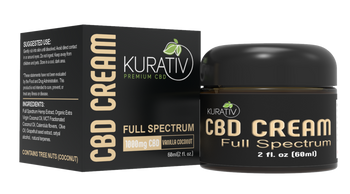 Kurative 1000mg Full Spectrum Cream. Handmade in small batches using calendula flower extract, these full spectrum creams are our best-sellers in this category.  All natural ingredients and essential oils result in a smooth, thick texture with no oily residue.
