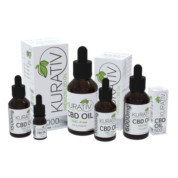 Kurativ THC-Free CBD Oils begin with 99+% CBD Isolate extracted from only the finest U.S. grown hemp plants.  Then it's precisely formulated with Organic MCT oil to produce a blend that is pure and effective with no unpleasant tastes.  We select MCT oil due to it's high absorbability rate.  This means that your body absorbs more CBD than you would with other carrier oils.
