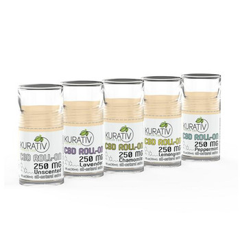1 ounce roll-on salves contain only natural, simple ingredients - Beeswax, coconut oil, and of course, Kurativ premium CBD. A superior alternative to treating topical discomfort, sores, and cuts. Doubles as a lip balm on those cold winter or hot summer days. Each roll-on stick contains 250mg of CBD and is available in Lavender, Peppermint, Lemongrass, Chamomile, and Unscented.
