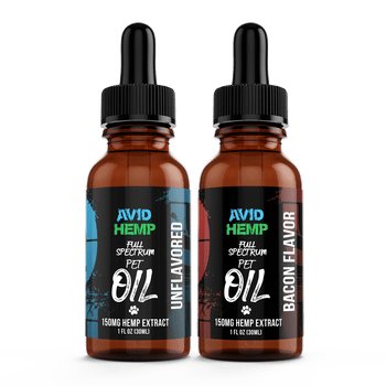 Avid Hemp's 150mg Pet Oil Tincture is the premium choice for anyone looking to supply their furry friend with the immense variety of health benefits that our CBD Pet oil offers. Made with fractionated coconut oil (MCT) and Full Spectrum Hemp Extract.