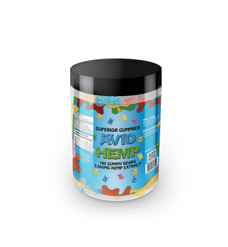 Avid Hemp CBD Gummy Bears 3,000mg 180ct  provide a delicious and convenient way to supplement your diet with cannabidiol. Portable CBD gummies are individually dosed in precise milligrams and offer an excellent way to take consistent amounts of CBD. Gummies are also a tasty alternative for folks who aren't fond of the flavor of CBD oils. All of our products are tested by a third-party lab and contain less than .03% delta 9 THC.