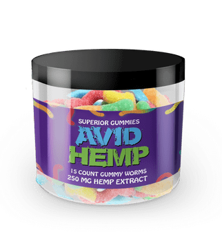 Avid Hemp CBD Gummy Worms 250mg 15ct gummies are individually dosed in precise milligrams and offer an excellent way to take consistent amounts of CBD. Gummies are also a tasty alternative for folks who aren't fond of the flavor of CBD oils. All of our products are tested by a third-party lab and contain less than .03% delta 9 THC.