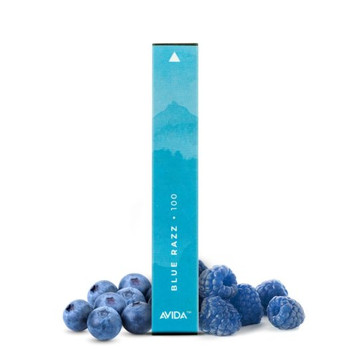 Avida Puff CBD Vape Pen - Blue Razz | Experience the delicious flavor of sweet blue raspberries and tart blueberries infused with a potent 100mg dose of CBD in our 1ml Avida Puff CBD Vape Pens. This little CBD pen is powered by a 280mAh battery and is good for 300 puffs so you can enjoy dosing your CBD on your daily travels