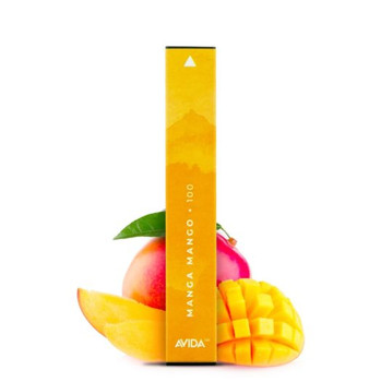 Avida Puff CBD Vape Pen - Manga Mango | Manga Mango takes center stage. With each puff, you'll experience the taste of Juicy Honey Mangos layered with tangy Alfonso Mangos and juicy Honey Mangos. Infused with a potent 100mg dose of CBD housed in a 1ml container. Avida Puff is powered by a 280mAh battery and is good for 300 puffs, so you can enjoy dosing your CBD on your daily travels