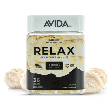 Avida - Vanilla CBD Gummies are a delicious way to dose CBD. Each Gummy is Powered by 10mg of Avida Core Broad Spectrum CBD. Every chew gives you the experience of Creamy Vanilla ice cream. Sprinkled with organic cane sugar, our CBD gummies work fast to help counter the bad vibes and stresses. It's just what your body needs to help you stay relaxed, calm, cool, and collected.