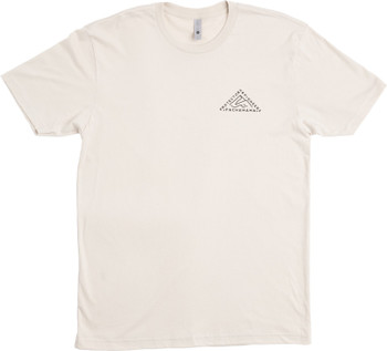 Pachamama CBD | The Protectors & Pioneers Tee - Cream t-shirt has the three sides of a triangle to represent Pachamama as the foundation that creates and joins both protectors and pioneers.