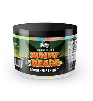 DeltaXL Gummy Bears 500mg | 15ct variety of fruity flavors in soft tasty flavored gummies, these gummy bears will be enjoyed not just for the effects, but also for the great taste.