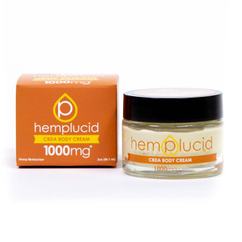 "Hemplucid Full-Spectrum CBDA Body Cream Hemplucid utilizes the whole hemp plant, so our products have hundreds of different plant-based compounds, like phytocannabinoids, terpenes, and other phytonutrients. These compounds work in combination with CBD, creating what is called the ""Entourage Effect"", promoting balance for the mind and body."