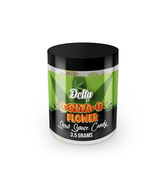 DeltaXL - Delta 8 premium Flower - D8 Sour Space Candy hemp flower | CBDResellers.com