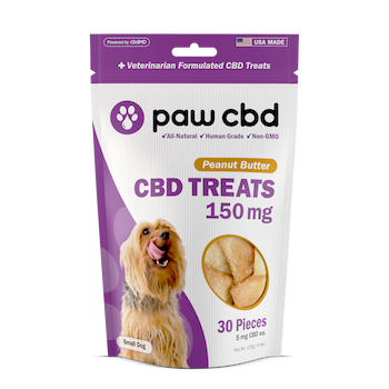 cbdMd Pet CBD Oil Treats for Dogs - 150mg - 600mg CBD hard chews for dogs are made from simple ingredients combined with our Superior Broad Spectrum formula for a wholesome, crunchy chew you can feel good about. Your dog will sit up and beg for this baked snack that delivers a serving of CBD in a convenient, THC-free* chew that's both good and good for them.